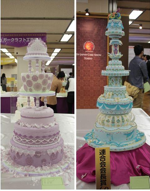 翻糖婚礼蛋糕的2个得奖作品