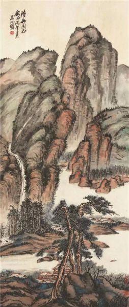 朱屺瞻(1892-1996) 溪山居图