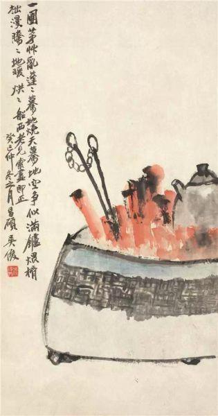 吴昌硕(1844-1927) 煨酒图