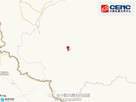 新疆墨玉县发生3.1级地震 震源深度8千米