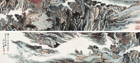 陆俨少(1909-1993) 秋山雅集图