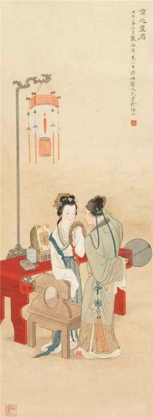 谢之光(1900-1976) 京兆画眉