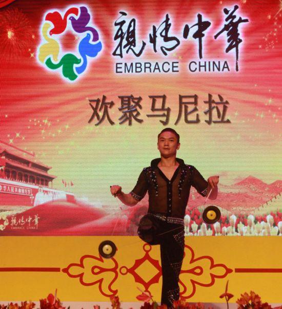 煤矿文工团演员王建磊表演《炫-抖空竹》