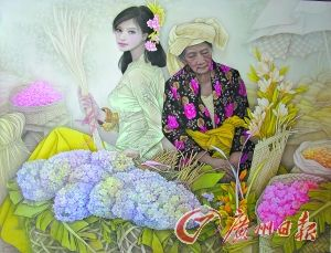 冯长江 《花市》