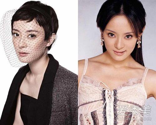 其实对比之前邓超分享的2张孙俪发型照,明显短发要比长发好看的多.图片