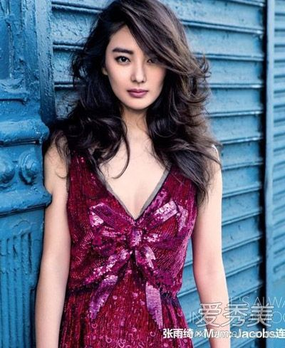 张雨绮被曝出轨 黑发美人经典发型图片图片