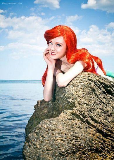 美人鱼神Cos来啦!网友Cos红发美人鱼性感迷人