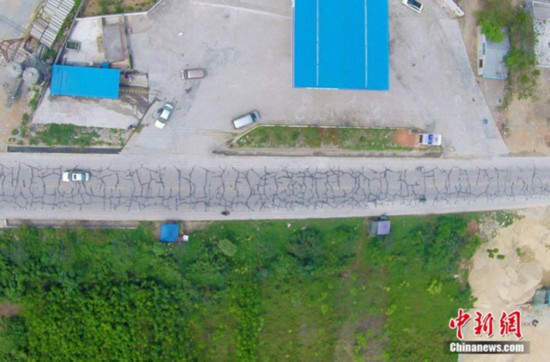 """儋州回应""""纹身""""公路:争取今年尽快改造"""