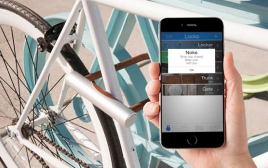 蓝牙解锁且支持报警 智能锁保护自行车