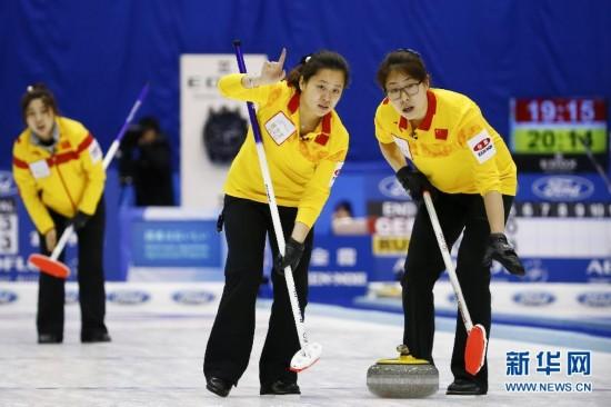 2015年女子冰壶世锦赛循环赛第八轮:中国胜日
