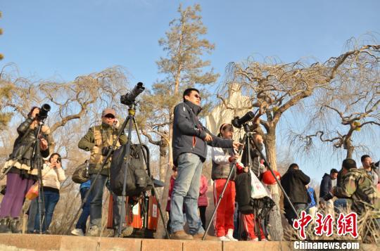 2015年全球惟一一次日全食上演新疆北部只见日偏食