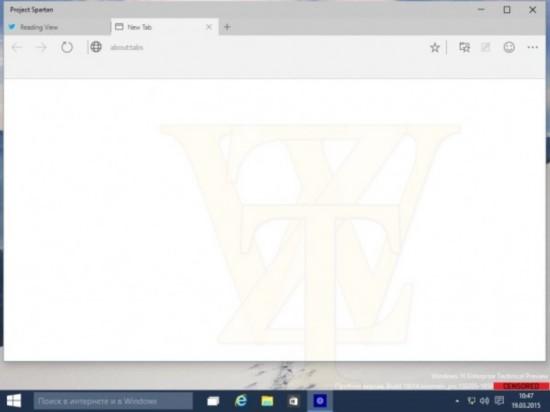 Win10 Build 10014版Spartan浏览器曝光