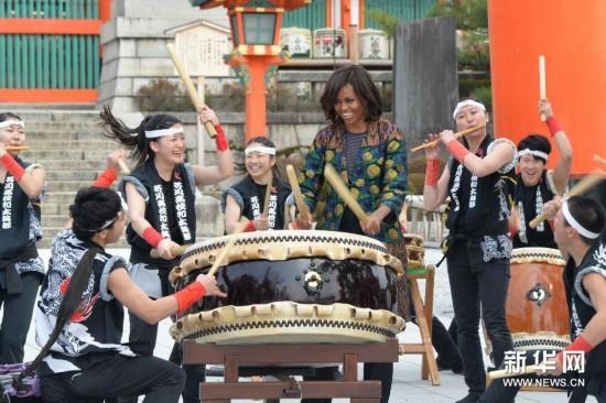 (XHDW)(1)米歇尔・奥巴马访问京都