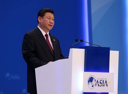 2013年4月7日,中国国家主席习近平在海南博鳌出席博鳌亚洲论坛2013年年会开幕式并发表主旨演讲。摄影:庞兴雷