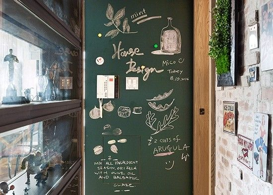 DIY打造居家黑板涂鸦墙