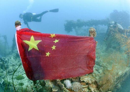 日本天皇造访帕劳前 日军沉船悬挂中国国旗消失