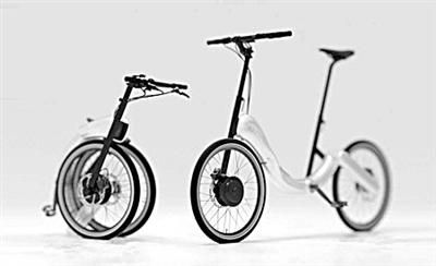 无链条折叠自行车(图)