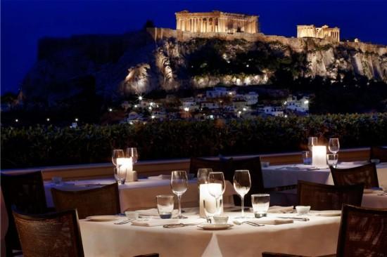 雅典的布列塔尼屋顶花园酒吧(grande bretagne roof garden bar)