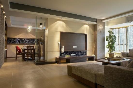 北京华贸城-三居室-130.40平米-客厅装修效果图