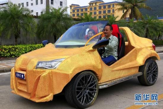 国内首台3D打印概念汽车亮相三亚
