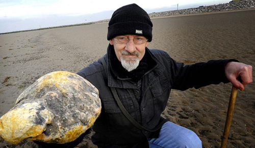 男子以为捡到3公斤龙延香鉴定发现是石头(图)