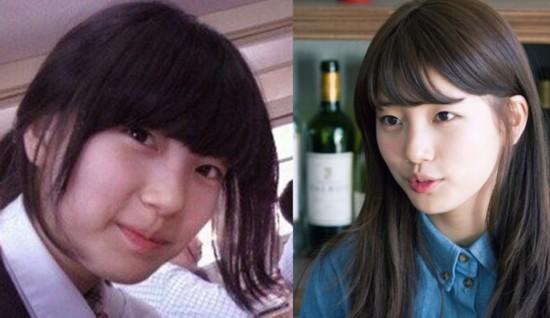 """韩国女星""""变脸""""过程"""