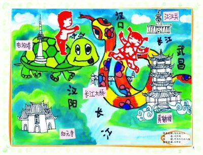 全国少儿手绘地图武汉14幅作品获奖