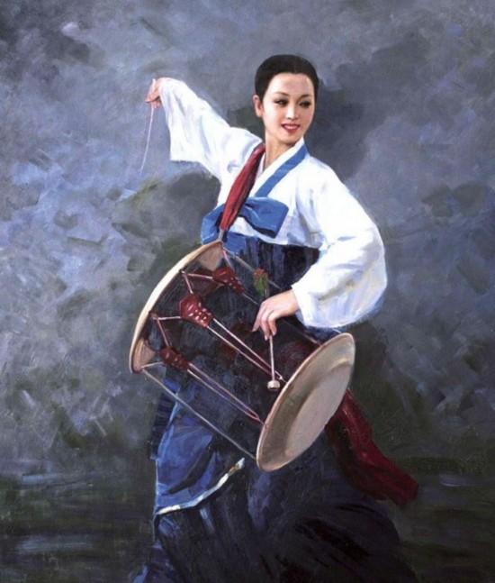 婉约清纯:朝鲜油画里的美女们(组图)