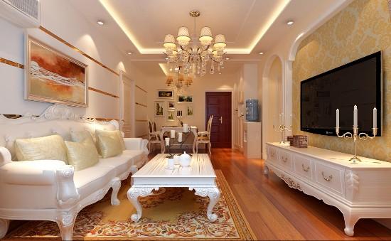 潮白河·孔雀英国宫-一居室-60.00平米-装修设计