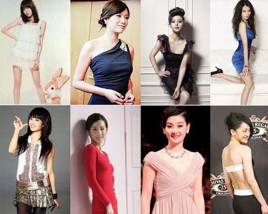 女星身高體重曝光 誰的身材完美