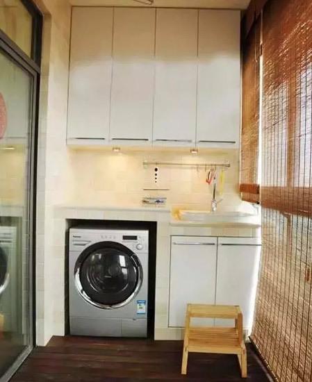 阳台洗衣机隔断客厅