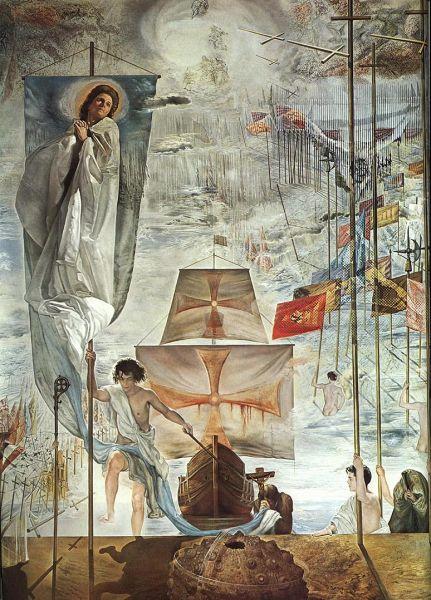 达利油画《哥伦布之梦》。图片来源网络