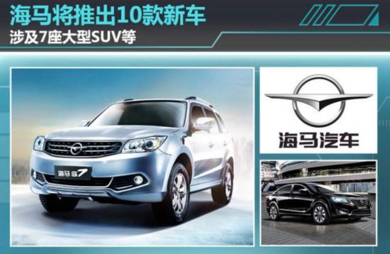 海马将推10款新车 涉7座大型SUV等高清图片