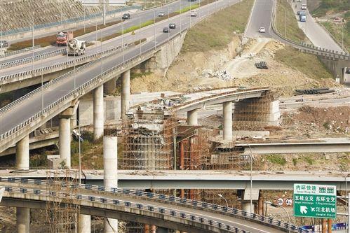 主城最复杂立交加紧建设