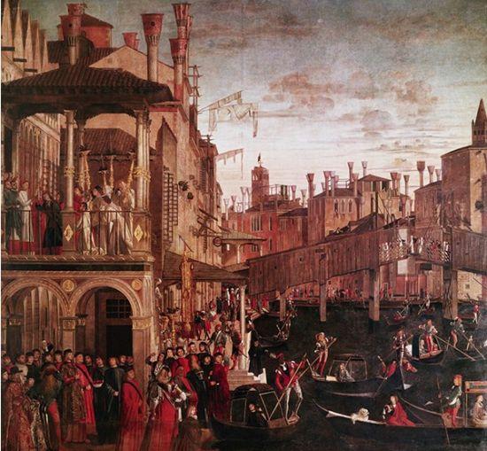 维托雷・卡尔帕乔(Vittore Carpaccio)(1460-1525),意大利威尼斯画派画家,维瓦尼亚和贝里尼画风