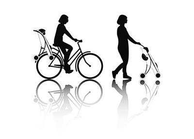 可放在自行车后架的儿童推车[组图]