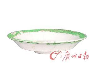 元霍州窑白釉折腰碗
