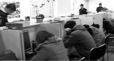 警方突襲詐騙團伙窩點。