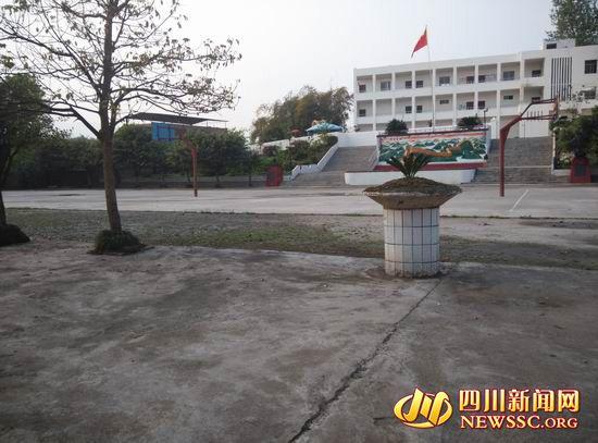 位於解慍中心小學校園的解慍幼兒園,知情者稱左側樹蔭為蔣某當天停車位置