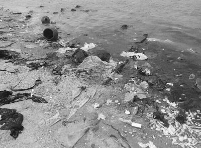 儋州:沙滩垃圾遍地污水排入海 游客大失所望