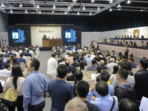 香港苏富比春季拍卖会两件拍品成交价过亿港元
