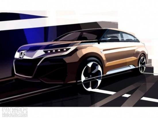 设计图 概念车/本田全新SUV概念车设计图