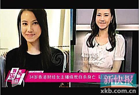 34岁香港女主播烧炭身亡