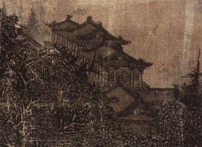 《溪山行旅图》中的房屋
