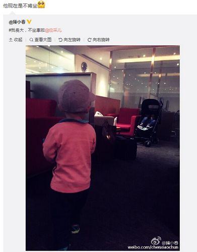 陈小春夫妇曝儿子不愿坐婴儿车微博甜蜜互动(图)