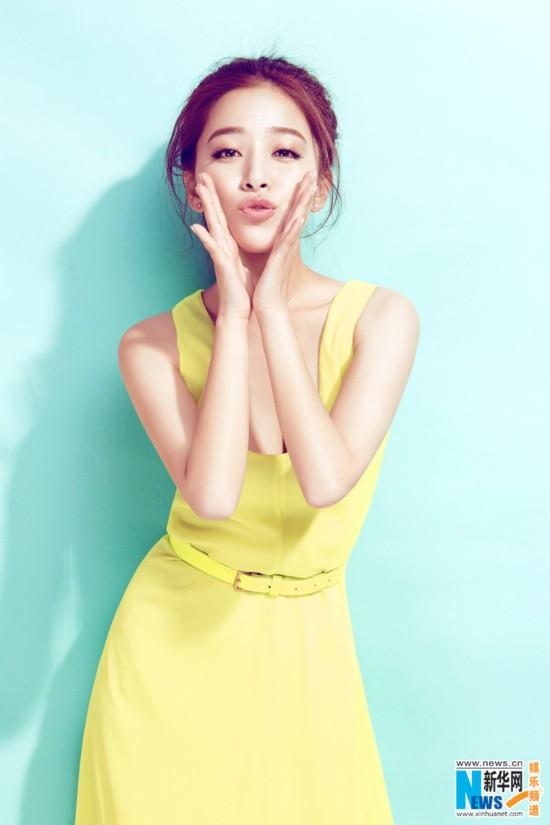 阚清子晒清凉写真庆生 少女气质甜美可人