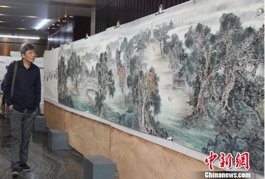 80米国画长卷《万里长征新画卷》在江西首次亮相
