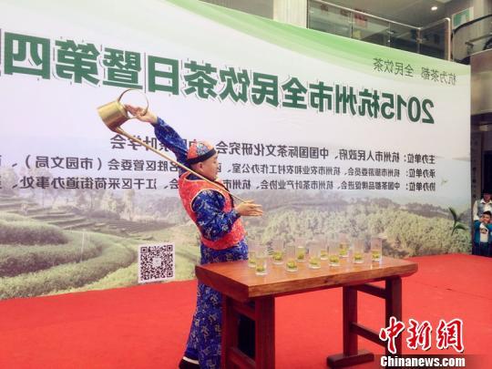 浙江杭州全民联动万人品茶灵隐寺法师表演禅茶