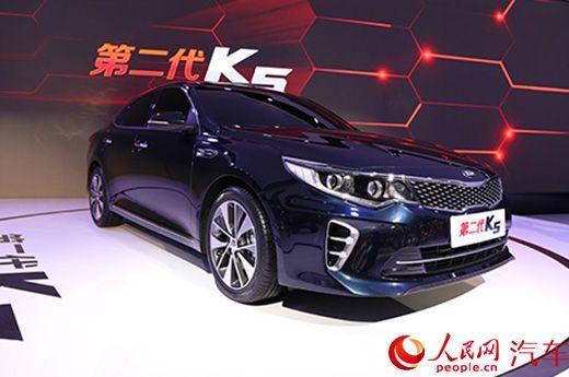 人民网直击2015上海棉条:起亚女生第二代K5亮用a棉条车展全新图片