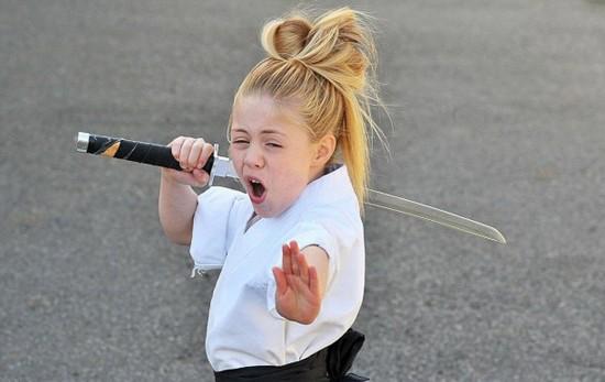 英国9岁超级武术女孩杰西Jesse 小萝莉不只会